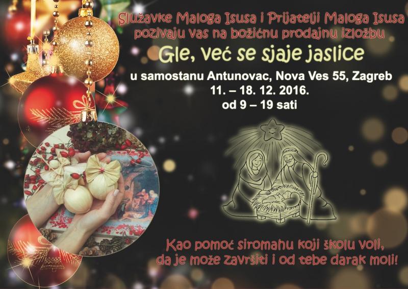 Božićna prodajna izložba u samostanu Antunovac