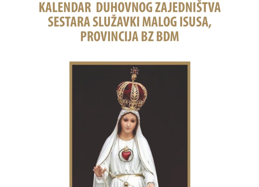 Kalendar duhovnog zajedništva sestara SMI (2017.)