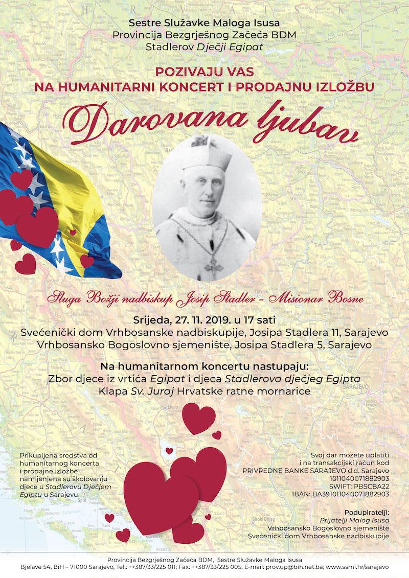 Humantirani koncert i prodajna izložba za školovanje djece u Stadlerovom dječjem Egiptu u Sarajevu