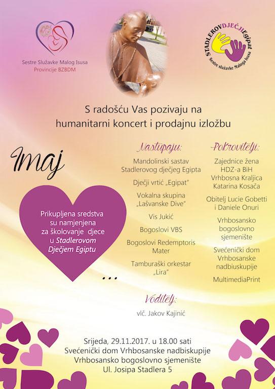 """Humanitarni koncert i prodajna izložba """"Imaj srca!"""""""