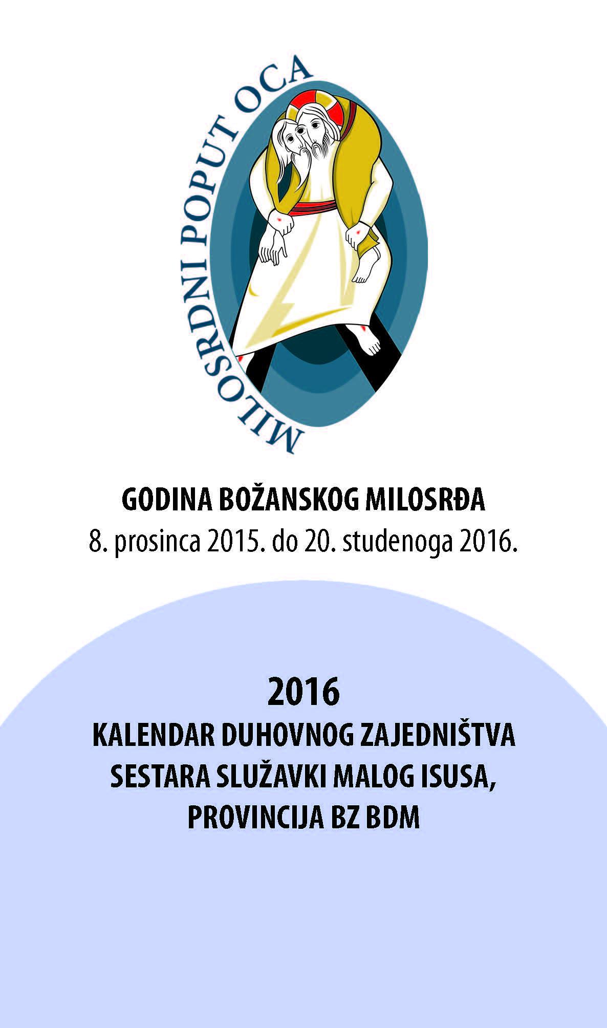 Kalendar duhovnog zajedništva sestara SMI (2016.)