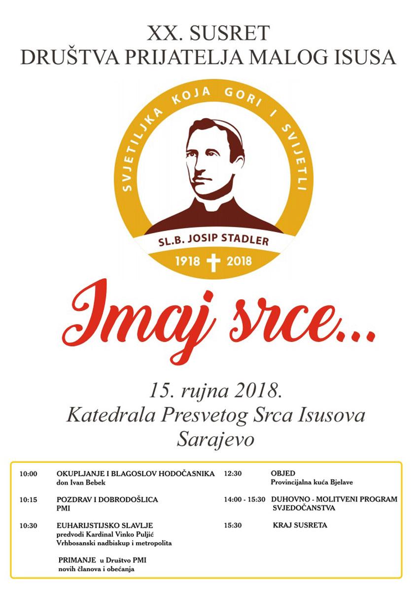 XX. Susret Društva Prijatelja Malog Isusa Sarajevske provincije